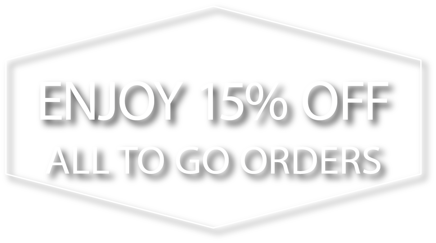 Takeout To Go 15% Off Deal